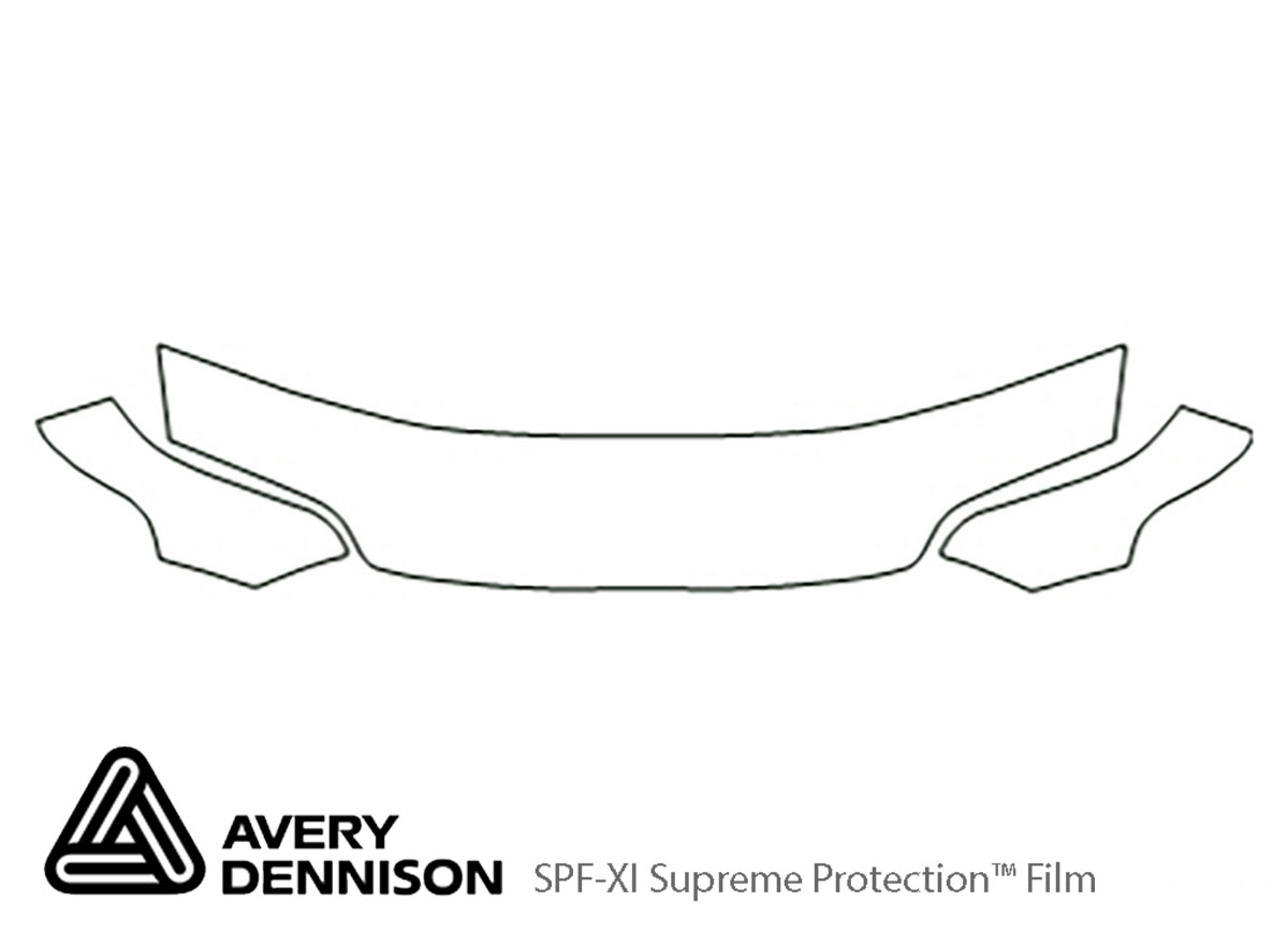 Honda Civic 1992-1995 Avery Dennison Clear Bra Hood Paint Protection Kit Diagram