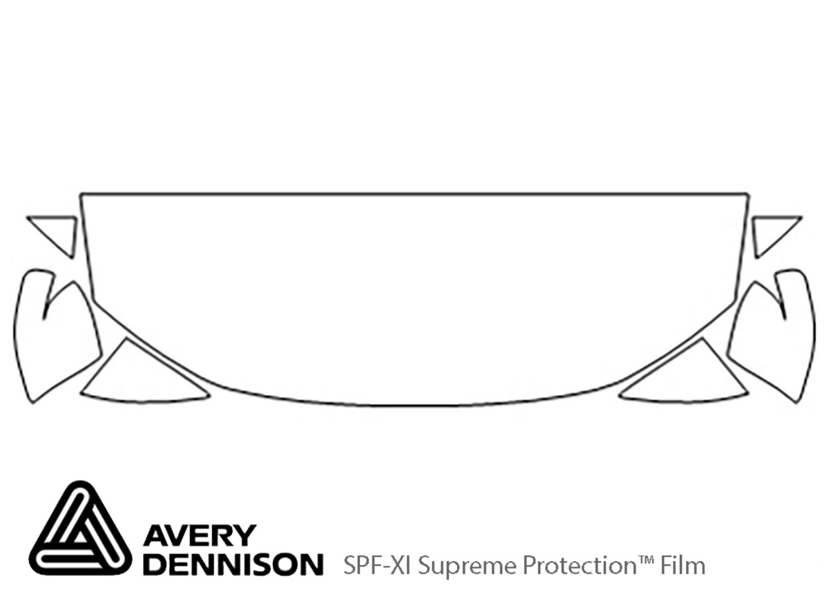 Honda Civic 2012-2015 Avery Dennison Clear Bra Hood Paint Protection Kit Diagram