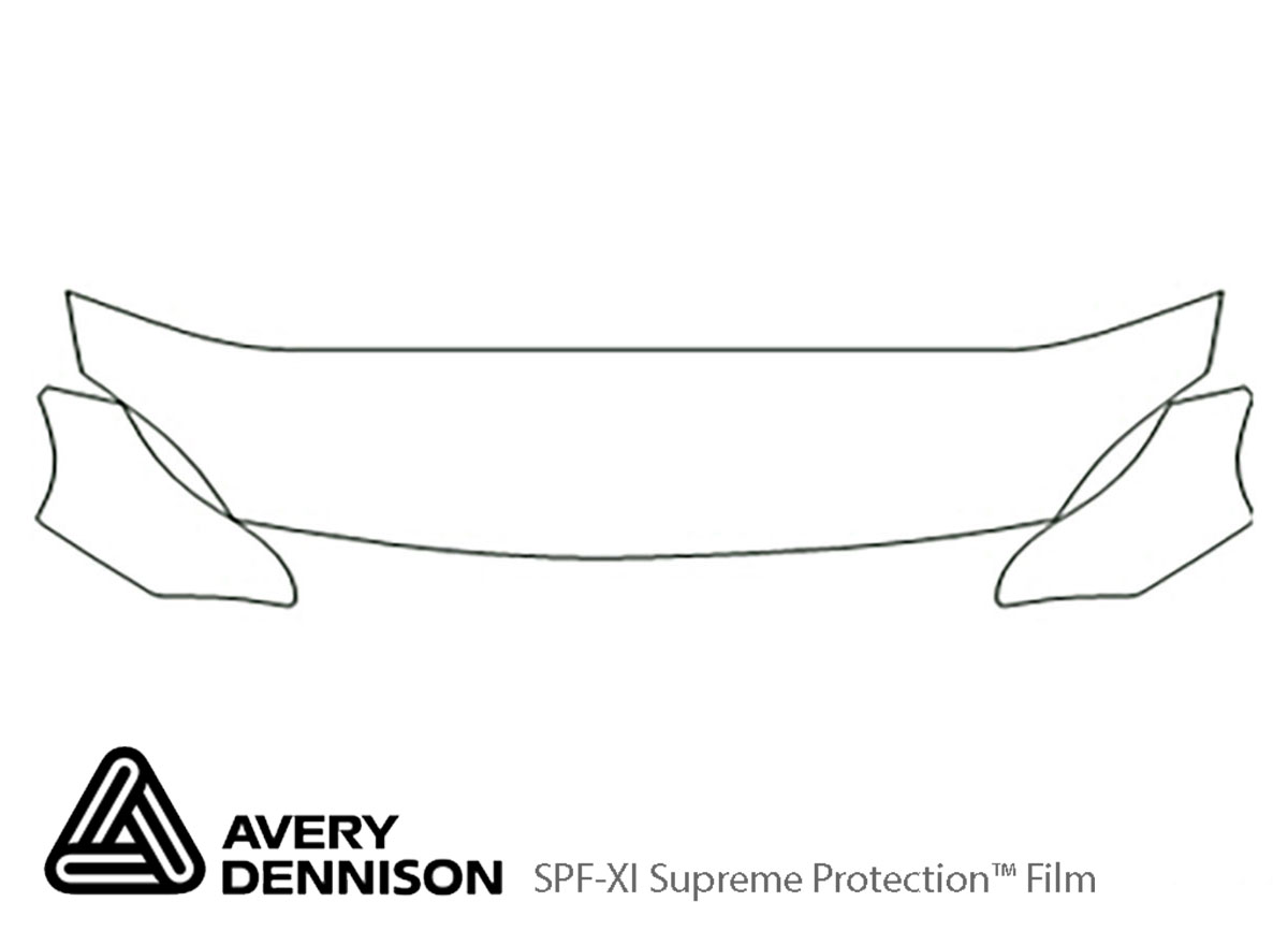 Honda Del Sol 1993-1997 Avery Dennison Clear Bra Hood Paint Protection Kit Diagram
