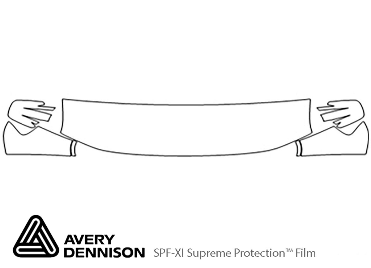 Honda Element 2009-2011 Avery Dennison Clear Bra Hood Paint Protection Kit Diagram