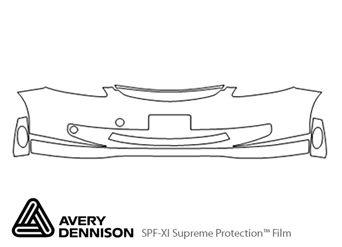 Honda Fit 2007-2008 Avery Dennison Clear Bra Bumper Paint Protection Kit Diagram