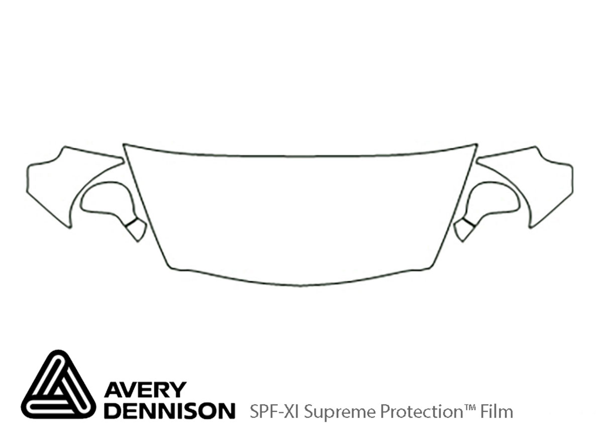 Honda Fit 2007-2008 Avery Dennison Clear Bra Hood Paint Protection Kit Diagram