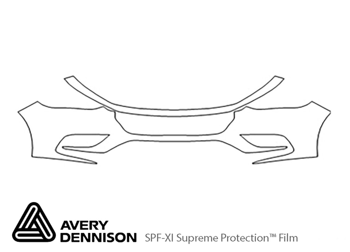 Honda Insight 2019-2020 Avery Dennison Clear Bra Bumper Paint Protection Kit Diagram
