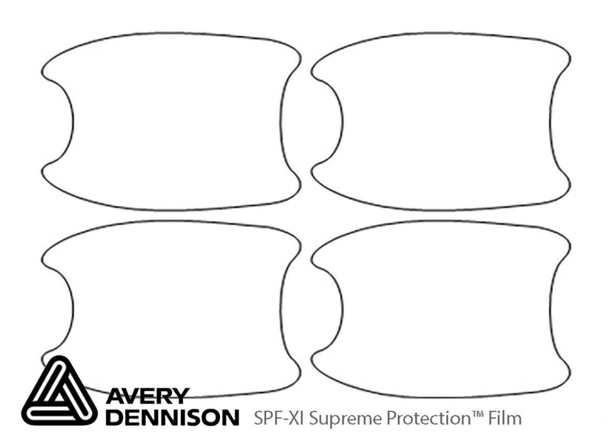 Honda Insight 2019-2020 Avery Dennison Clear Bra Door Cup Paint Protection Kit Diagram