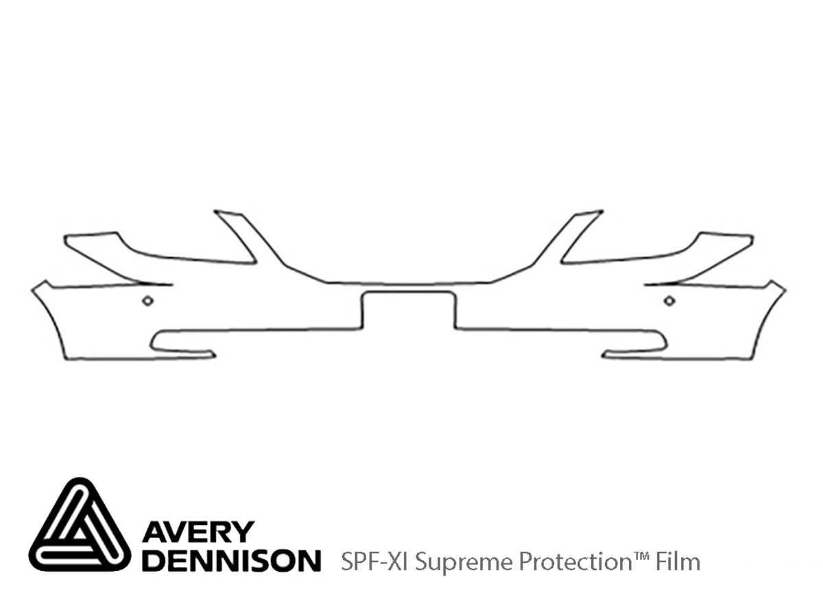 Honda Odyssey 2008-2010 Avery Dennison Clear Bra Bumper Paint Protection Kit Diagram