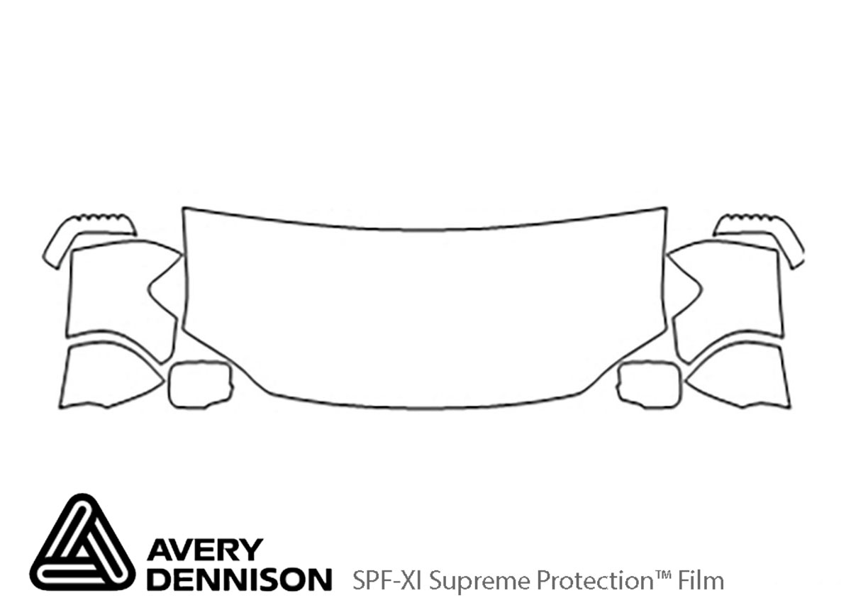 Honda Ridgeline 2006-2014 Avery Dennison Clear Bra Hood Paint Protection Kit Diagram
