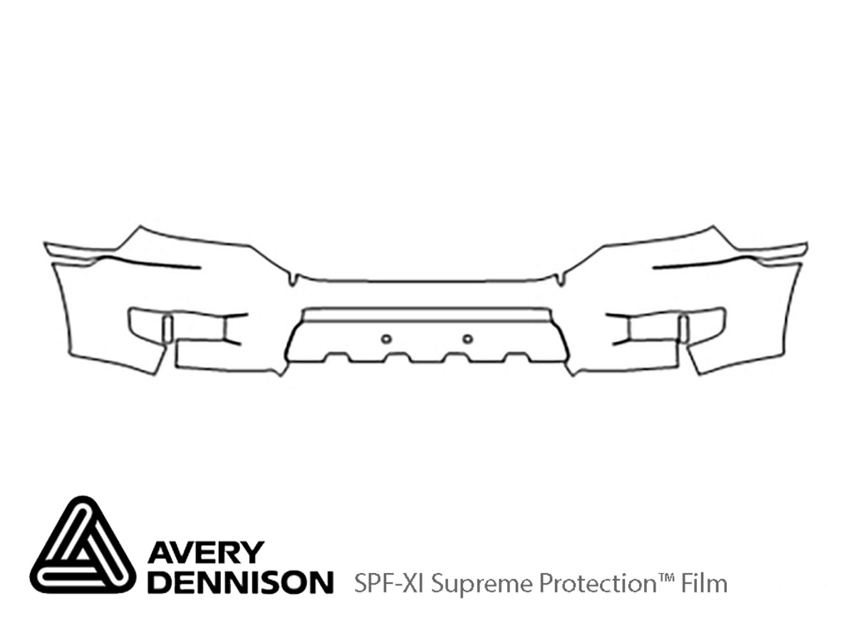 Honda Ridgeline 2009-2014 Avery Dennison Clear Bra Bumper Paint Protection Kit Diagram
