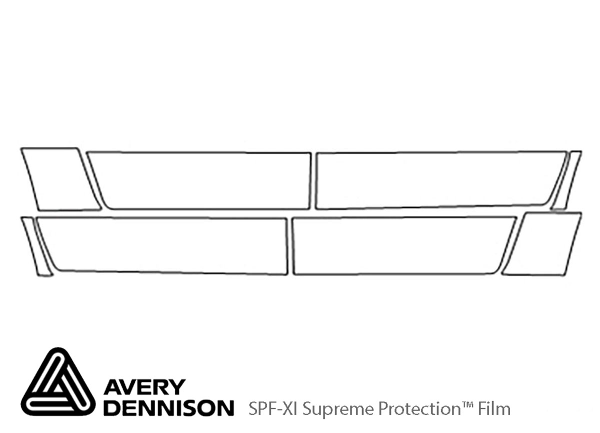 Honda Ridgeline 2009-2014 Avery Dennison Clear Bra Door Cup Paint Protection Kit Diagram