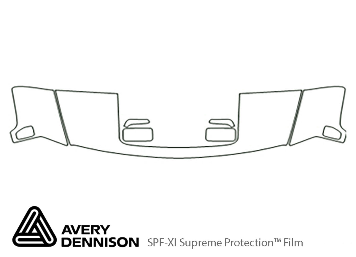 Hummer H3 2006-2010 Avery Dennison Clear Bra Hood Paint Protection Kit Diagram