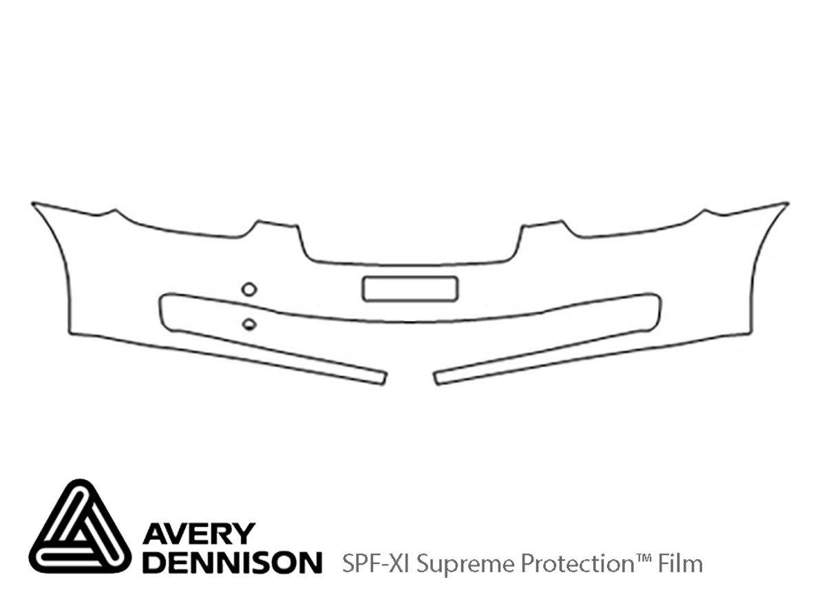Hyundai Accent 2006-2011 Avery Dennison Clear Bra Bumper Paint Protection Kit Diagram