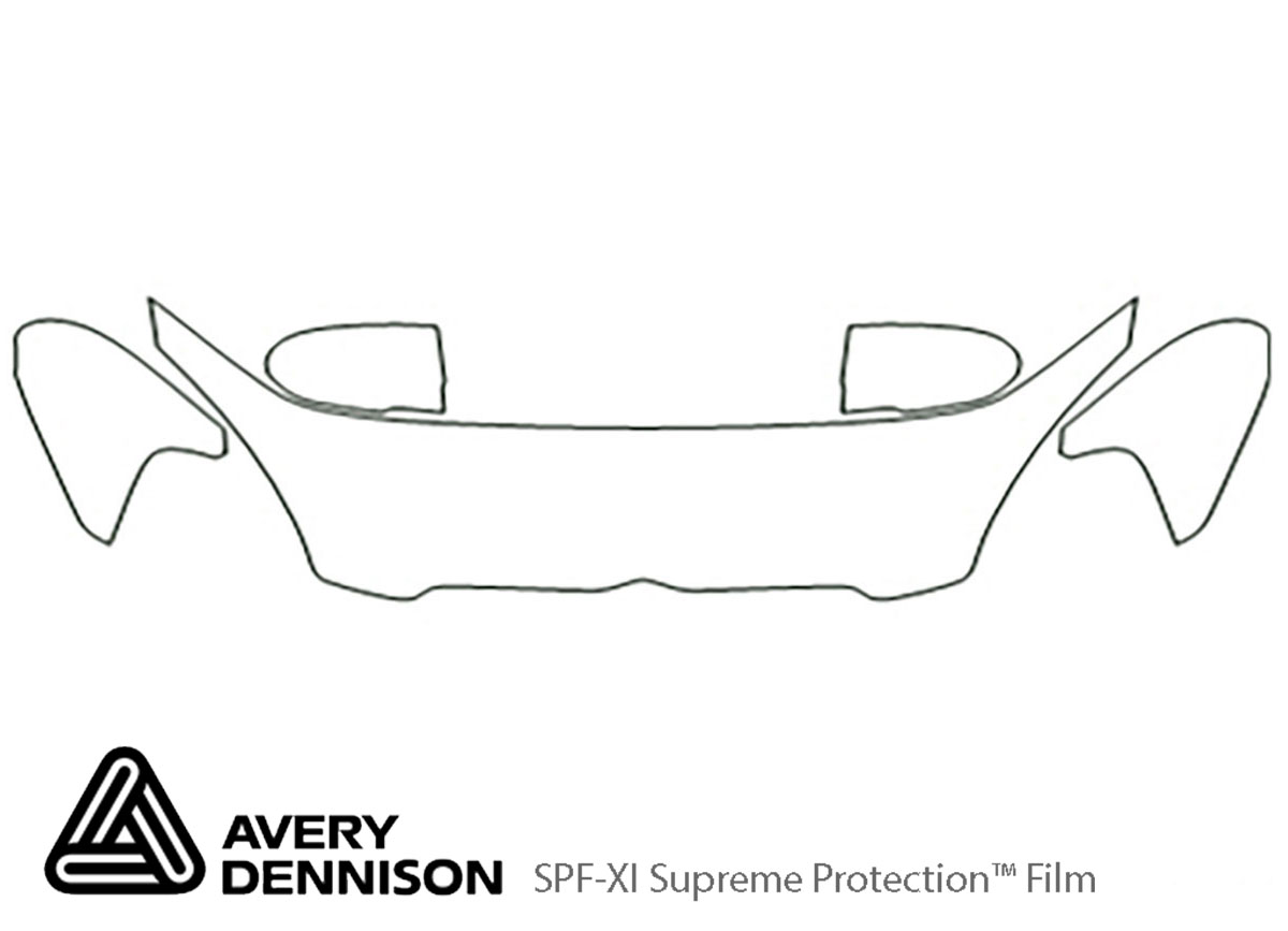 Hyundai Accent 2006-2011 Avery Dennison Clear Bra Hood Paint Protection Kit Diagram