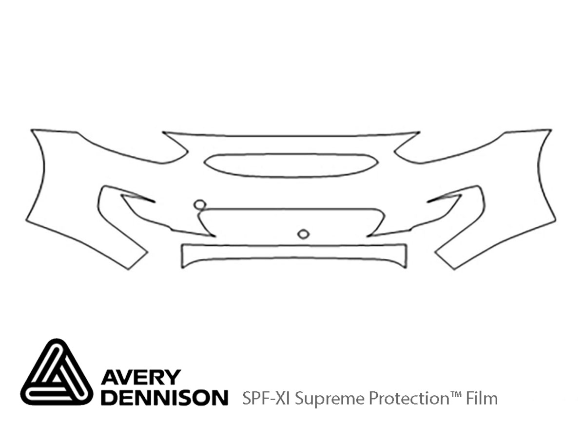Hyundai Accent 2012-2017 Avery Dennison Clear Bra Bumper Paint Protection Kit Diagram