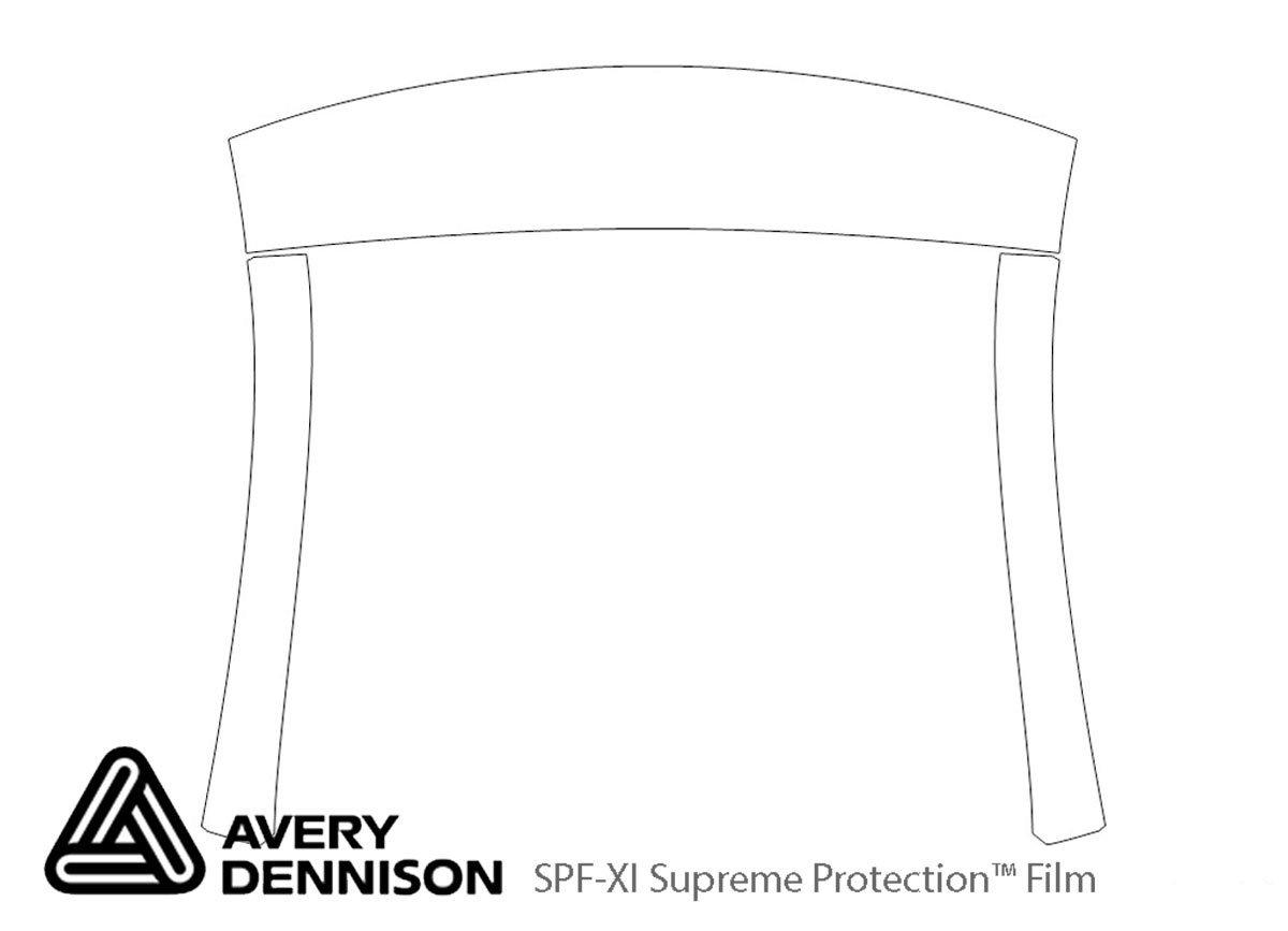 Hyundai Elantra 2013-2016 Avery Dennison Clear Bra Door Cup Paint Protection Kit Diagram