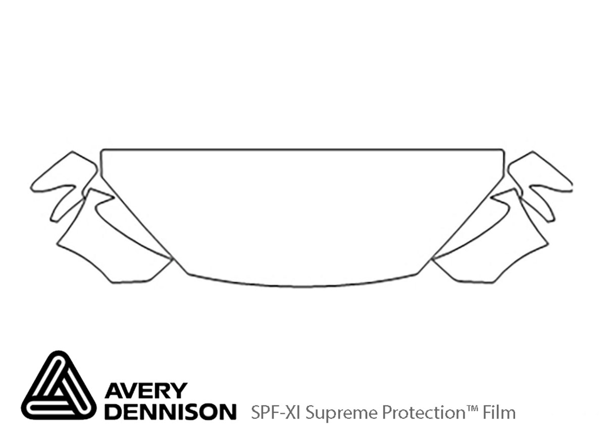 Hyundai Genesis 2013-2016 Avery Dennison Clear Bra Hood Paint Protection Kit Diagram