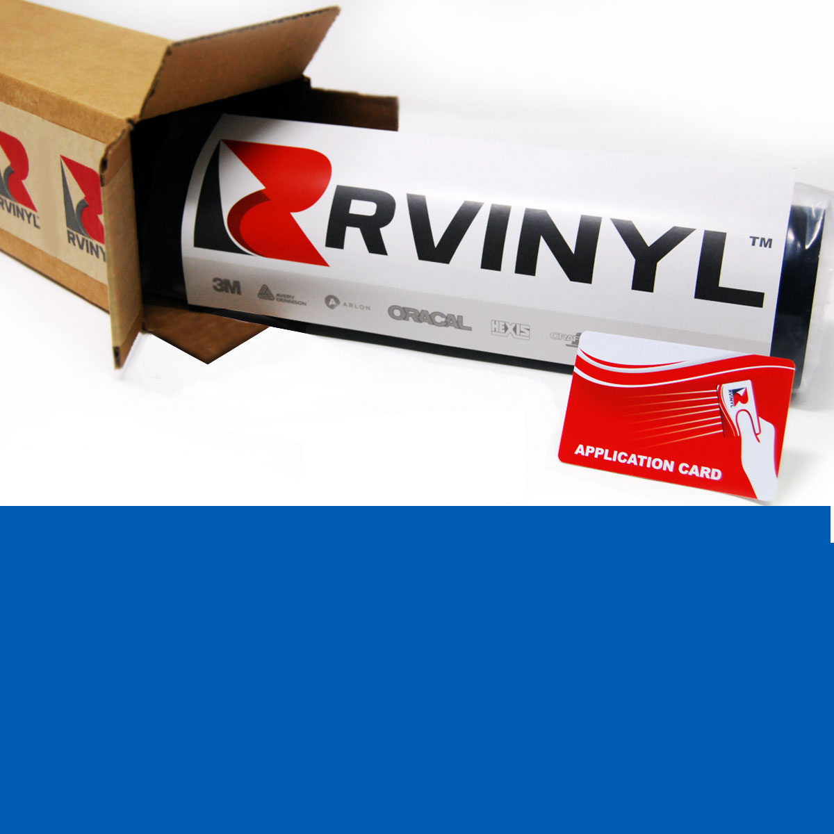 "photo relating to Avery Printable Vinyl named Averyâ""¢ SC950 Opaque Vinyl Motion picture - Blue Pantone 300 C"