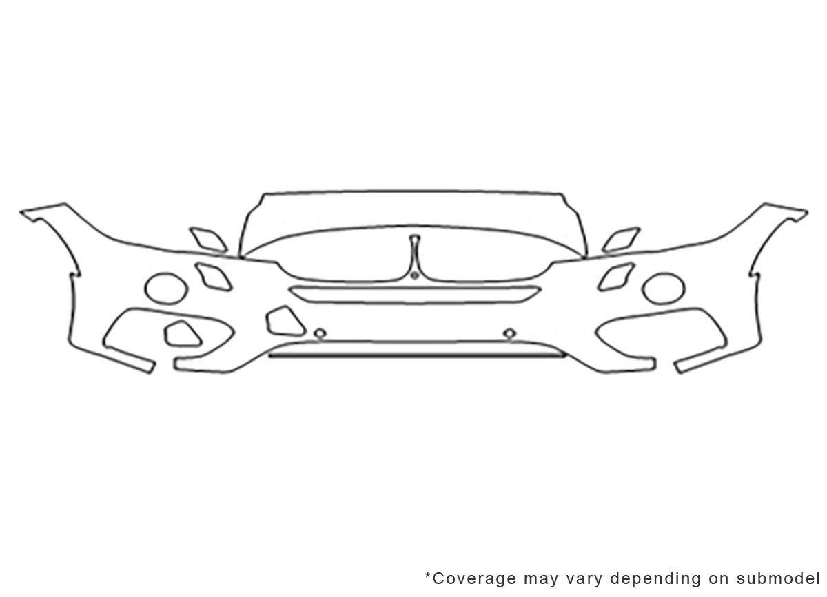 For BMW X6 E71 2008-2014 Bumper Paint Protection Film Carbon Protection 10037