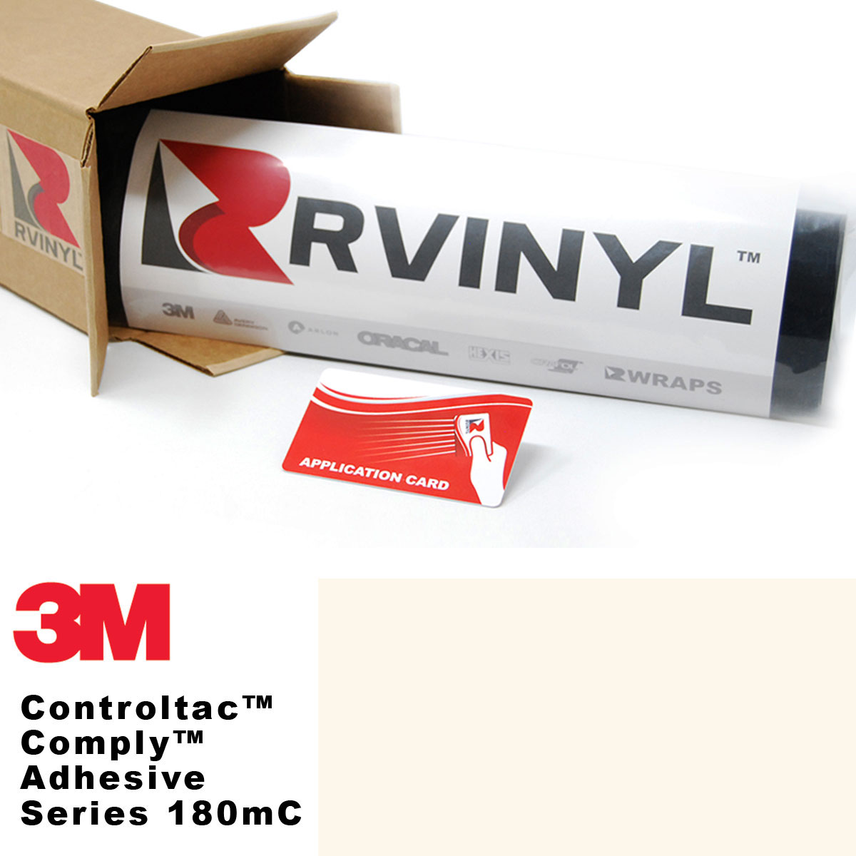 3M Controltac 180mC Antique White Vinyl Film