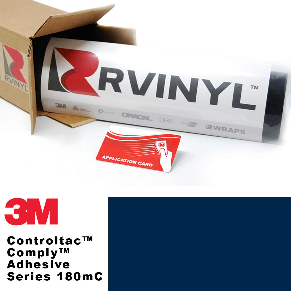 3m controltac 180mc light navy vinyl film