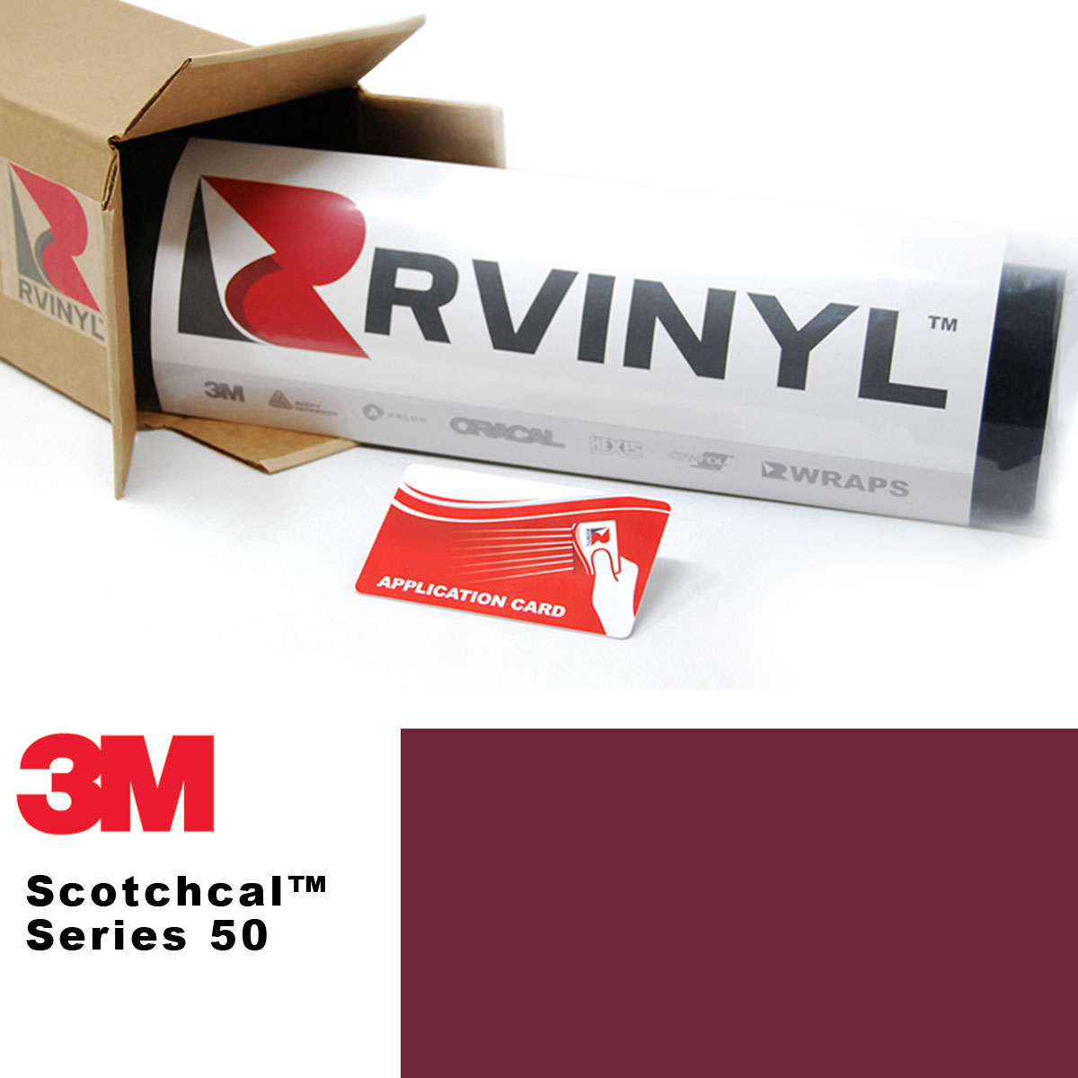 3M 50 Scotchcal Burgundy Graphics Film