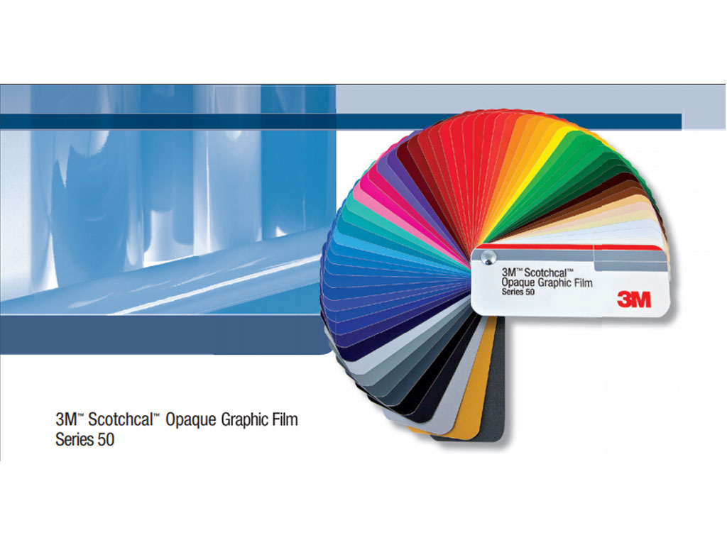 3M 50 Scotchcal Vinyl Film Color Chart