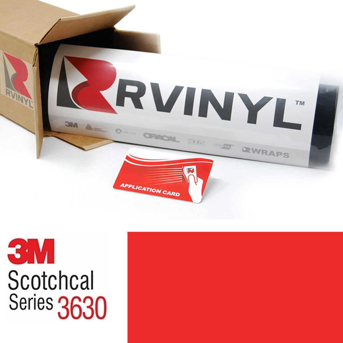 3M Scotchcal 3630 Light Tomato Red Translucent Graphic Film