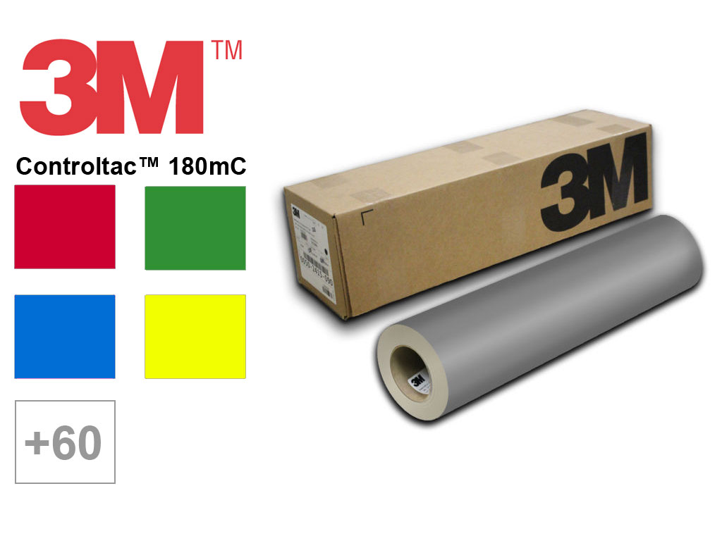 3M™ 180mC Controltac™ Cast Vinyl Vinyl, Film, Sheet, Roll, Wrap