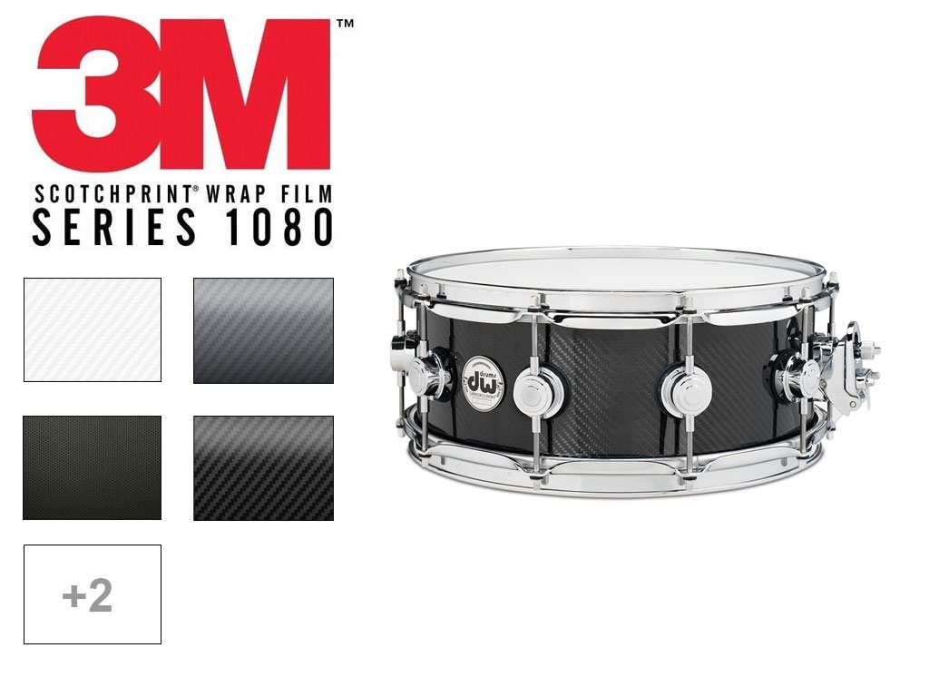 3M&trade Carbon Fiber Drum Wrap