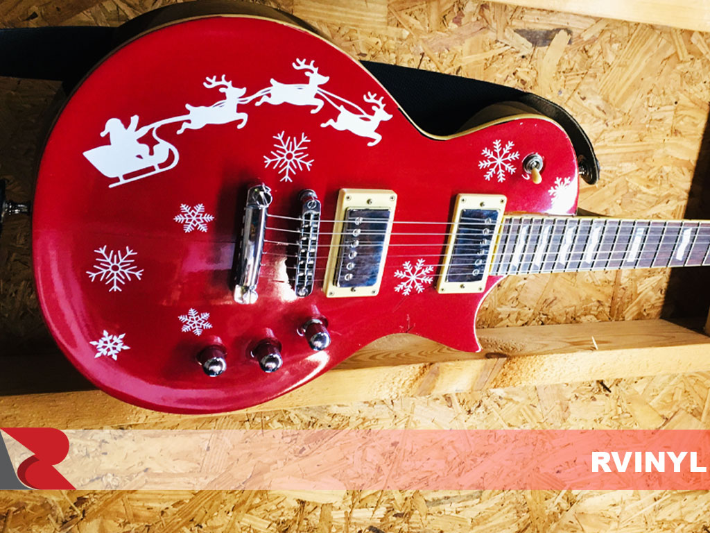 3M™ Gloss Red Metallic Electric Guitar Skin Wrap