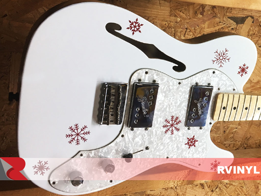 3M™ Gloss Guitar Wrap White Gold Sparkle