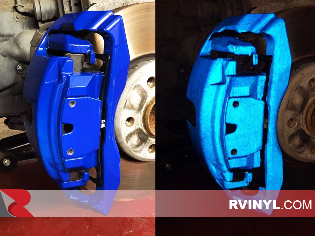 Before & After 3M™ 680 Blue Reflective Caliper Wrap