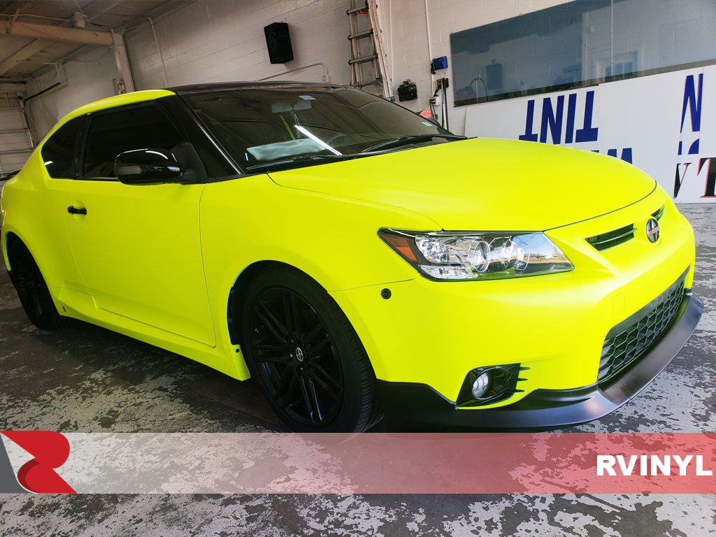 3M 1080 Satin Neon Fluorescent Yellow Passenger DIY Wrap