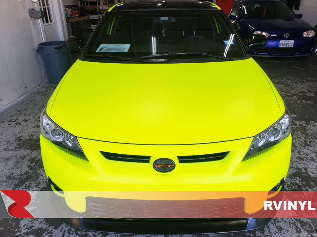 3M 1080 Satin Neon Fluorescent Yellow Hood DIY Wrap