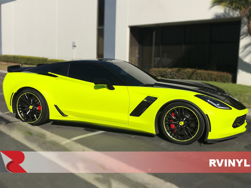 3M 1080 Satin Neon Fluorescent Yellow DIY Passenger Side Wrap