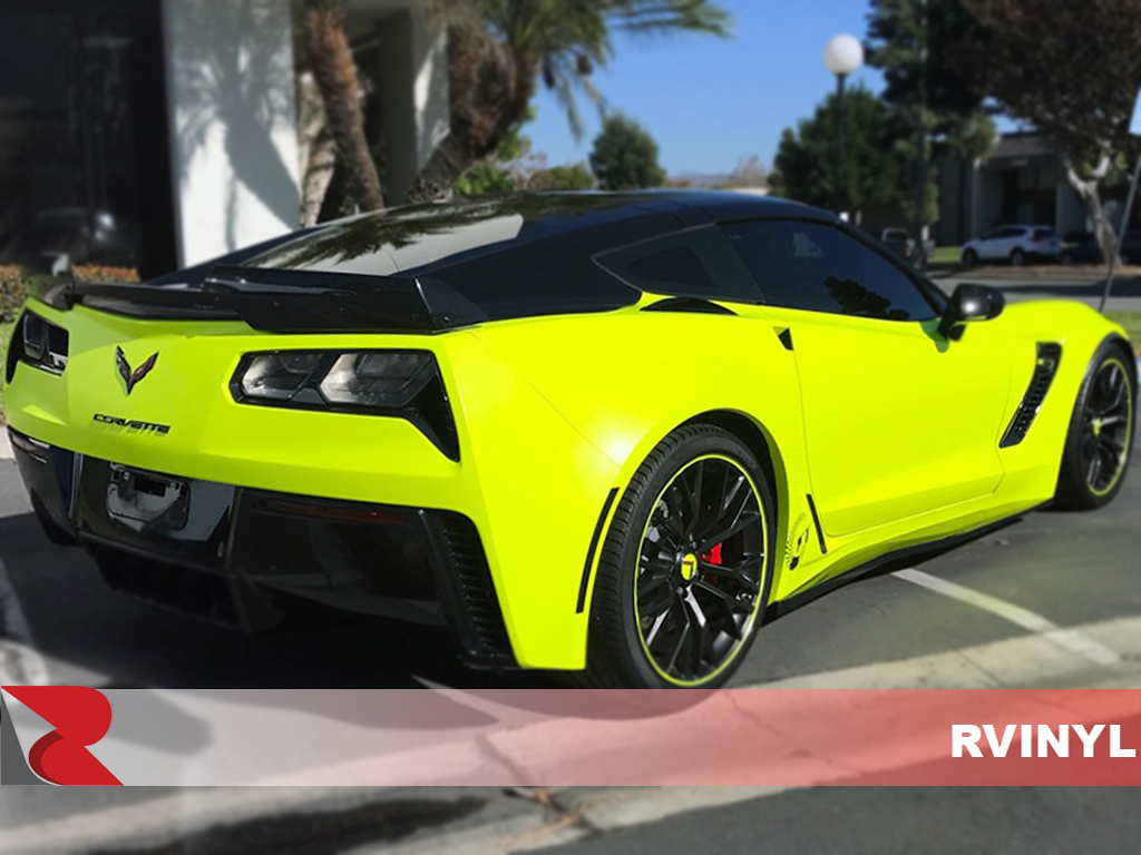 3M 1080 Satin Neon Fluorescent Yellow Rear DIY Wrap