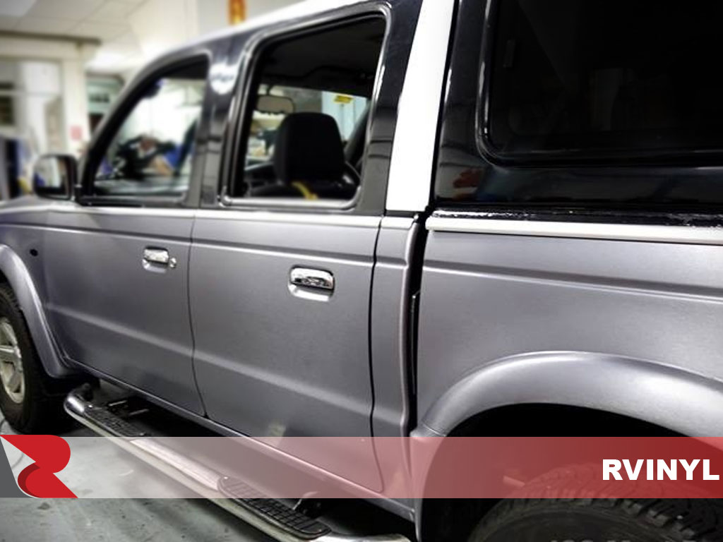 3M 1080 Series Brushed Steel Rear Driver Door Rwrap