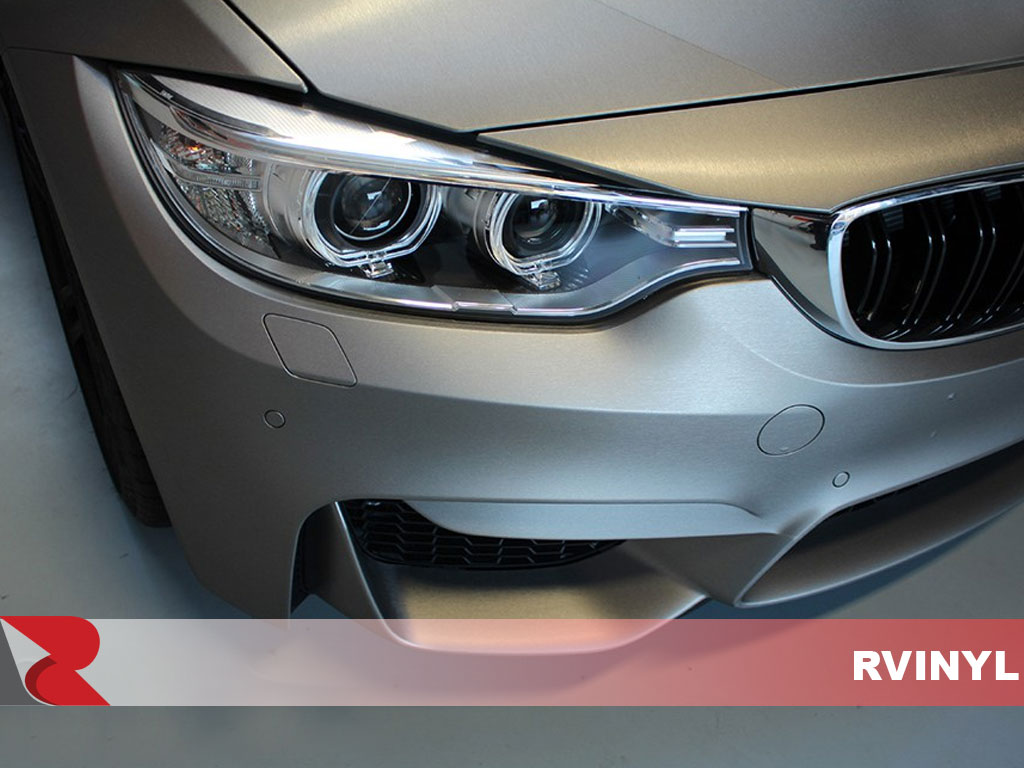 3M 1080 Series Brushed Titanium Headlight Rwrap