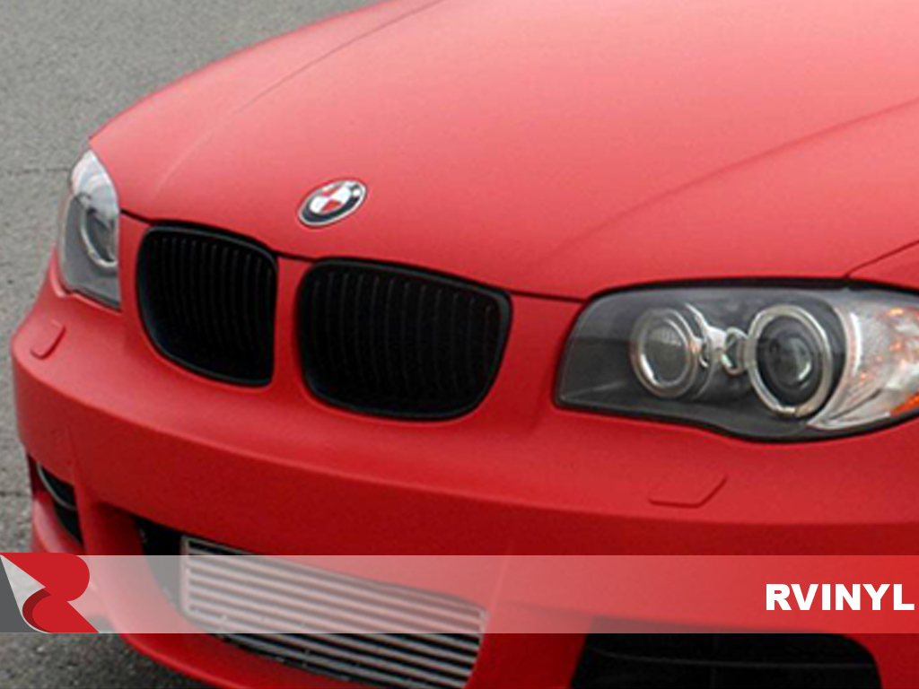 3M 1080 Series Matte Red Front Grille Wrap