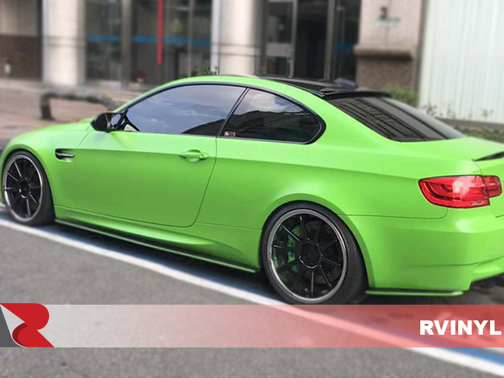 3M 1080 Series Satin Apple Green Side View Wrap