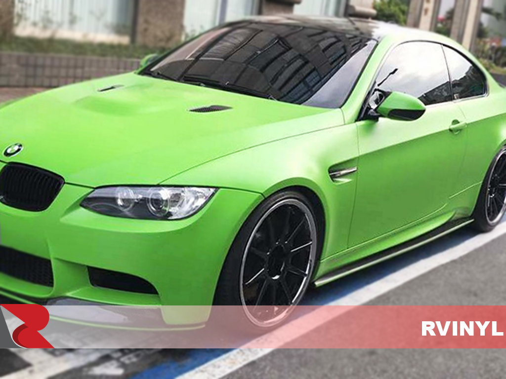 3M 1080 Series Satin Apple Green Driver Side Wrap