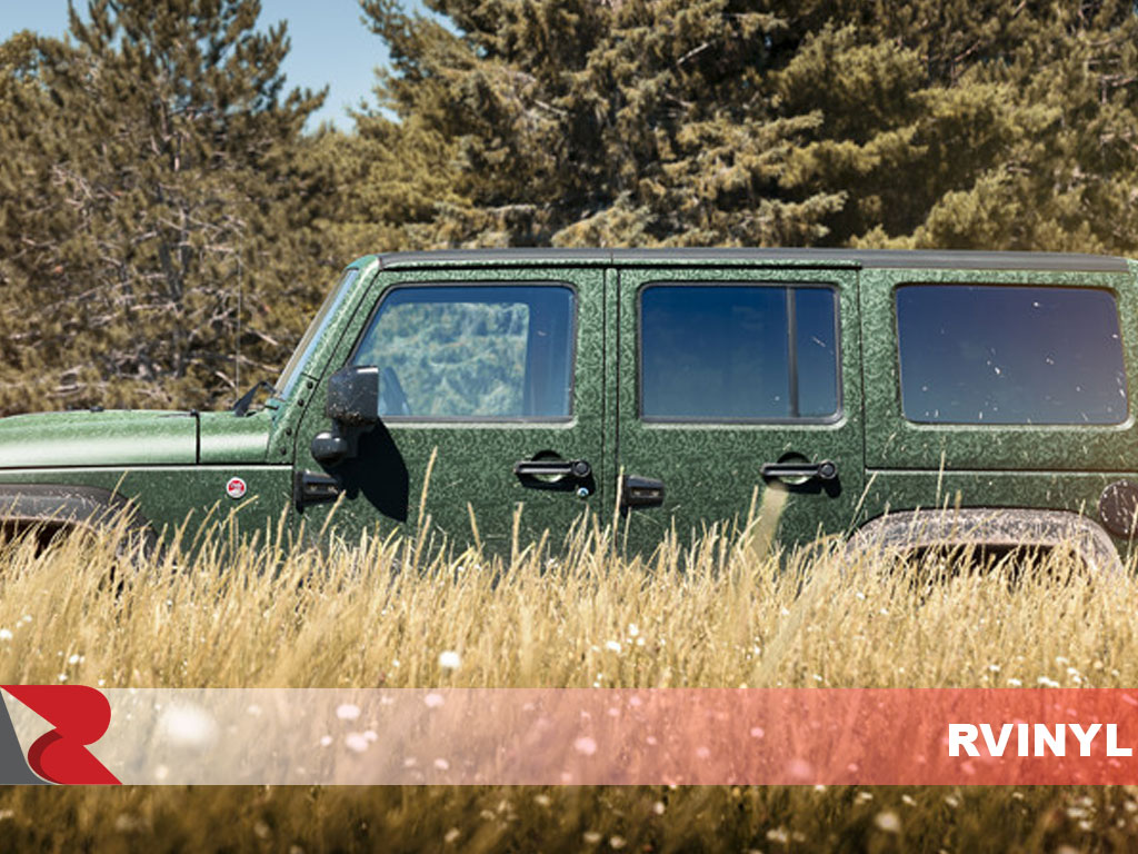 3M 1080 Shadow Military Green Wrapped Jeep