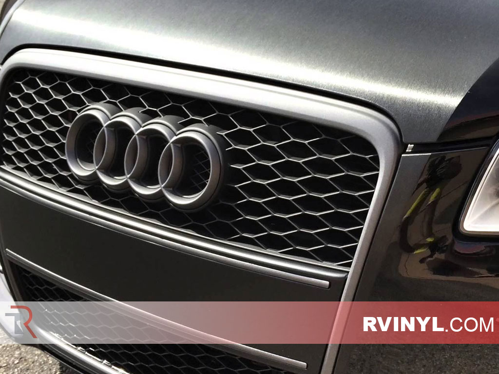 3M™ Brushed Black Metallic Audi Hood Vinyl Wraps - 2080 Series