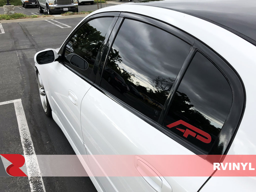 3M 2080 Series Gloss Black Wrap For Infiniti G35 Rear Driver Window