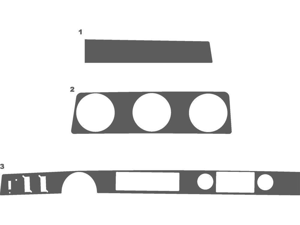 Oldsmobile Cutlass 1970-1972 Flat Dash Kits | Interior Trim Kit