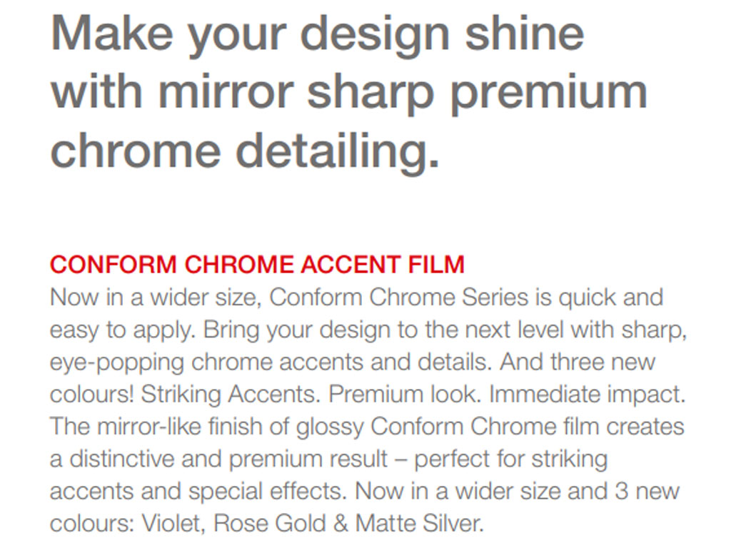 Avery Conform Chrome Mirror Accent Film
