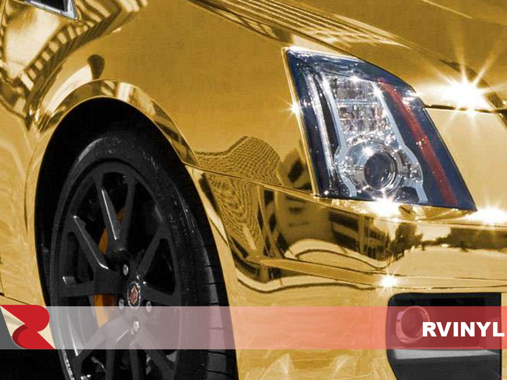 Avery Gold Conform Chrome Wrapped Cadillac CTS
