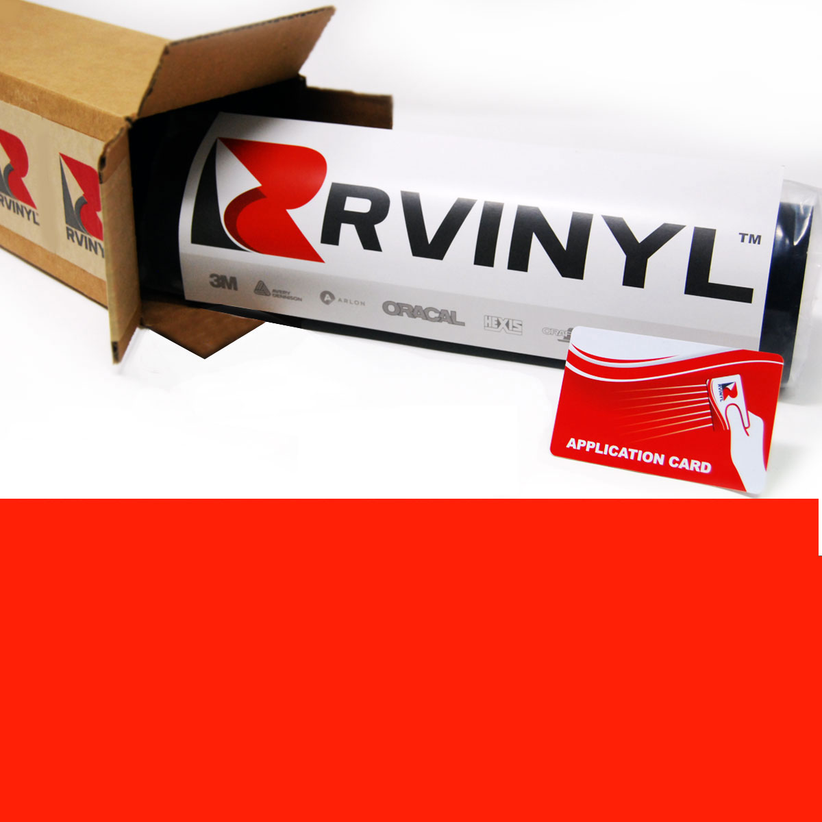 Avery SF100 Red Fluorescent Cut Vinyl Film
