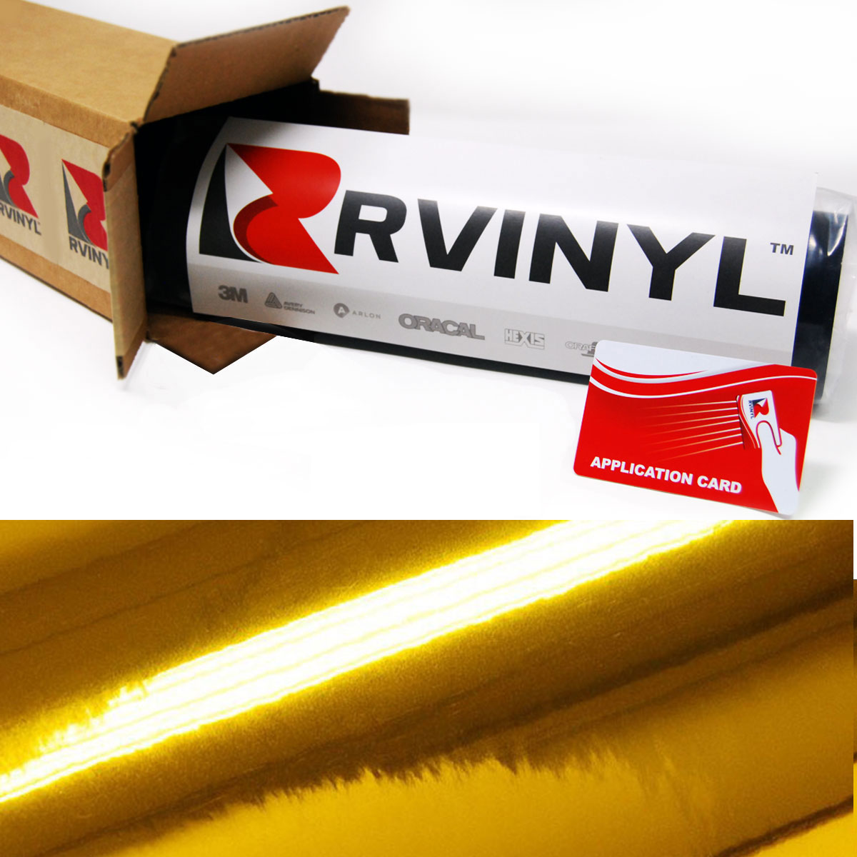 Avery SF100 Double Gold Metalized Cut Vinyl Film