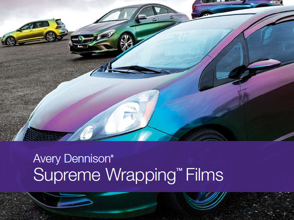 Avery SW900 Supreme Wrapping Film Car Line-Up