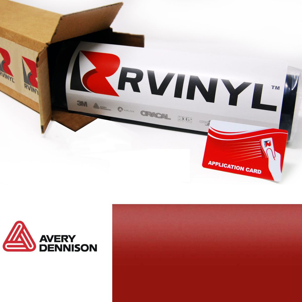 Avery Supreme SATIN CARMINE RED Vinyl Vehicle Car Wrap Trim Film SW900-438-O