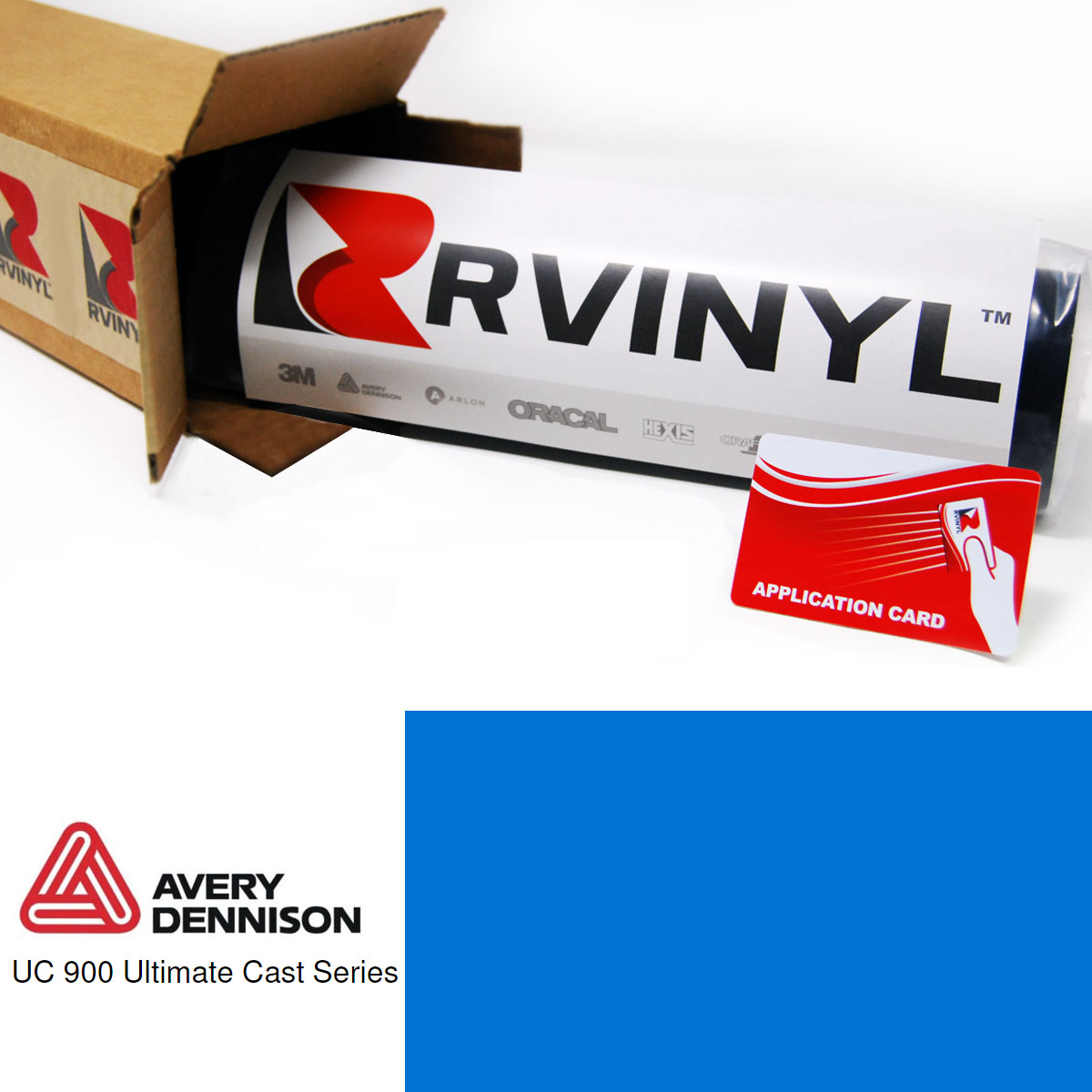 Avery UC900 Pantone 285 C Translucent Cut Vinyl Film